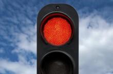Где находится светофор, который горит только красным цветом с 1987 года