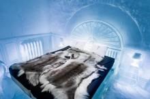 Северный отель Швеции из настоящего снега: поесть из ледяной посуды и полюбоваться скульптурами-орангутангами