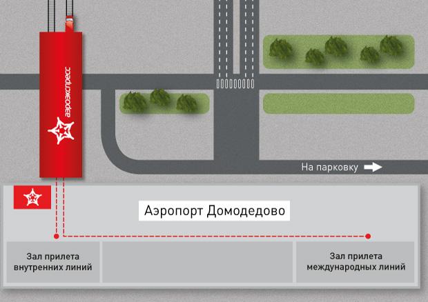 Платформа аэроэкспресса в Домодедово