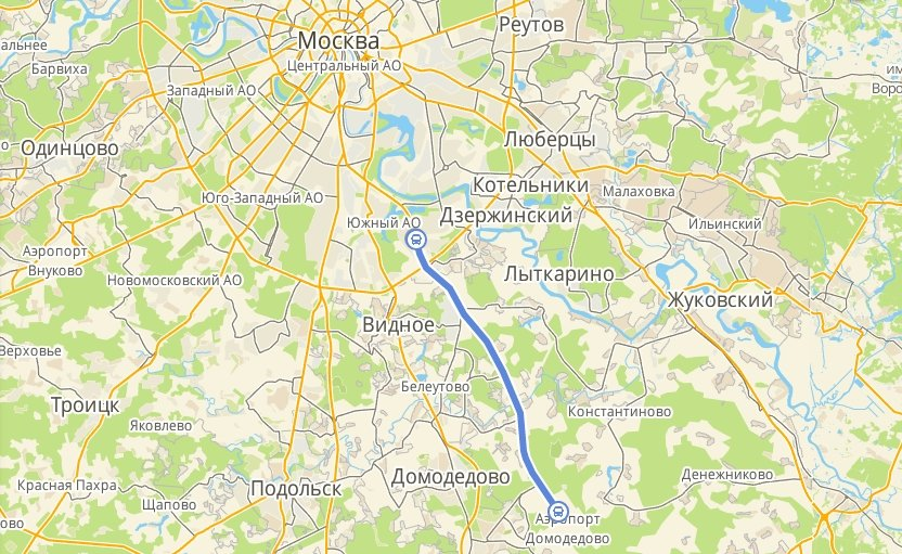 маршрут автобуса 308