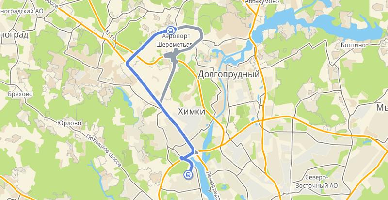 Автобус 817: Планерная - аэропорт Шереметьево