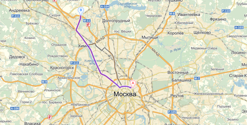 Маршрут Казанский вокзал – Аэропорт Шереметьево