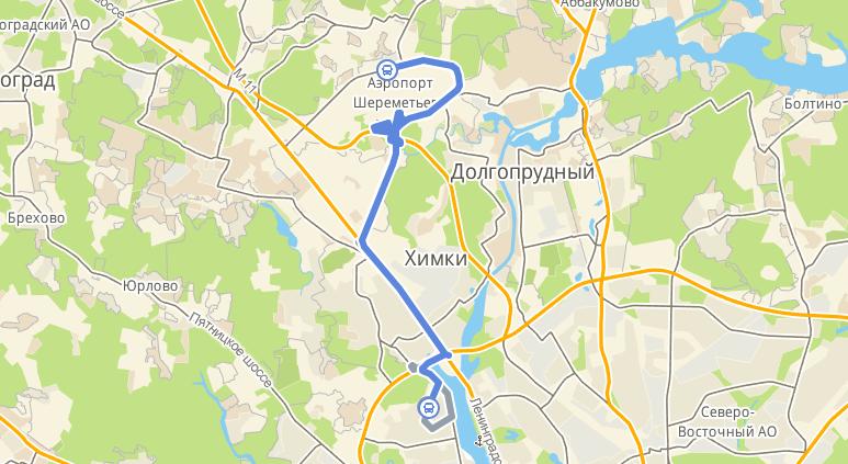 Маршрутка 948: Планерная - аэропорт Шереметьево