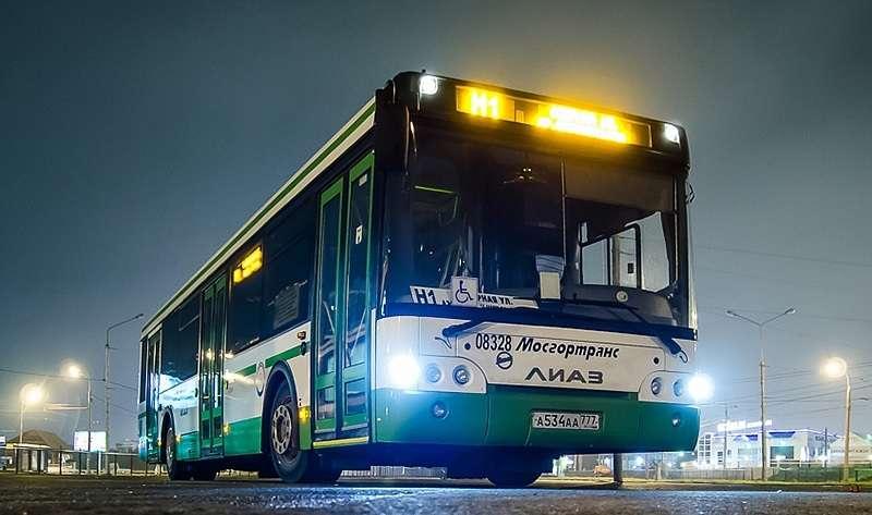 ночной автобус № Н1