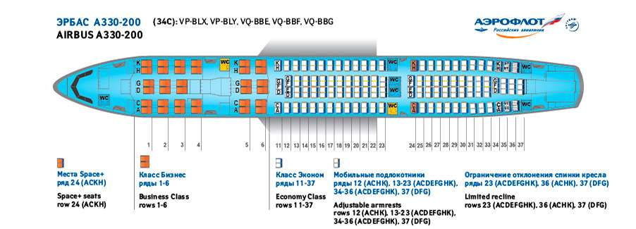 Схема мест в самолете аэробус а330-200