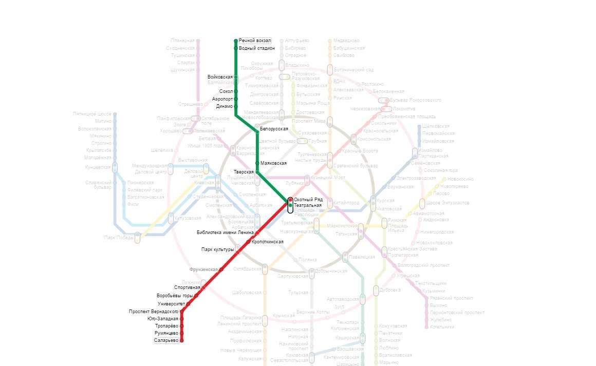 На метро из Внуково в Шереметьево