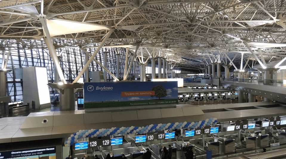 Зал Внуково изнутри терминал А