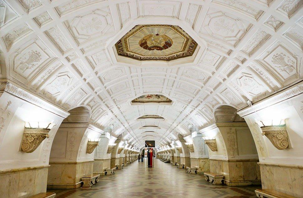 Белорусская кольцевая станция метро