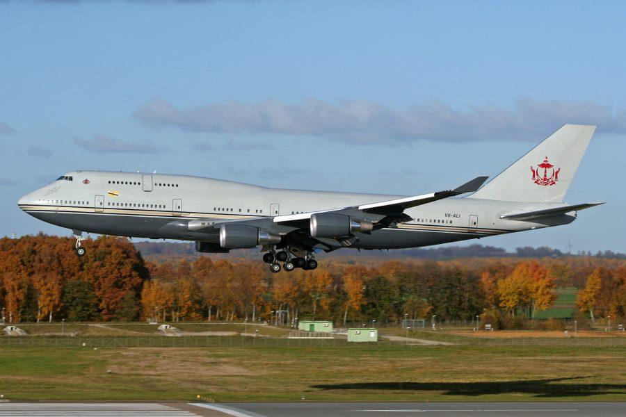 Boeing 747-430 султана Брунея Хассанал Болкиах