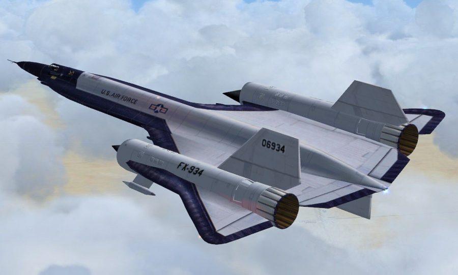 Крупный пилотируемый самолет YF-12 Lockheed
