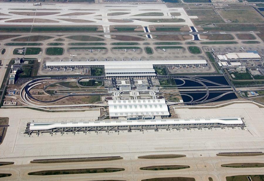 Аэропорт Пудун в шанхае китай