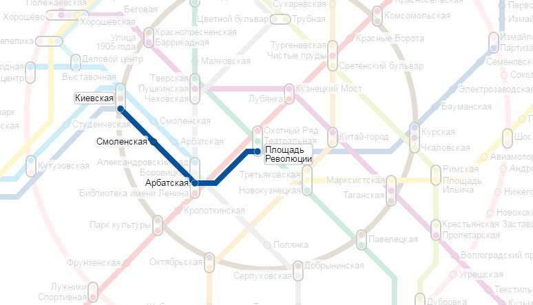 схема проезда на метро