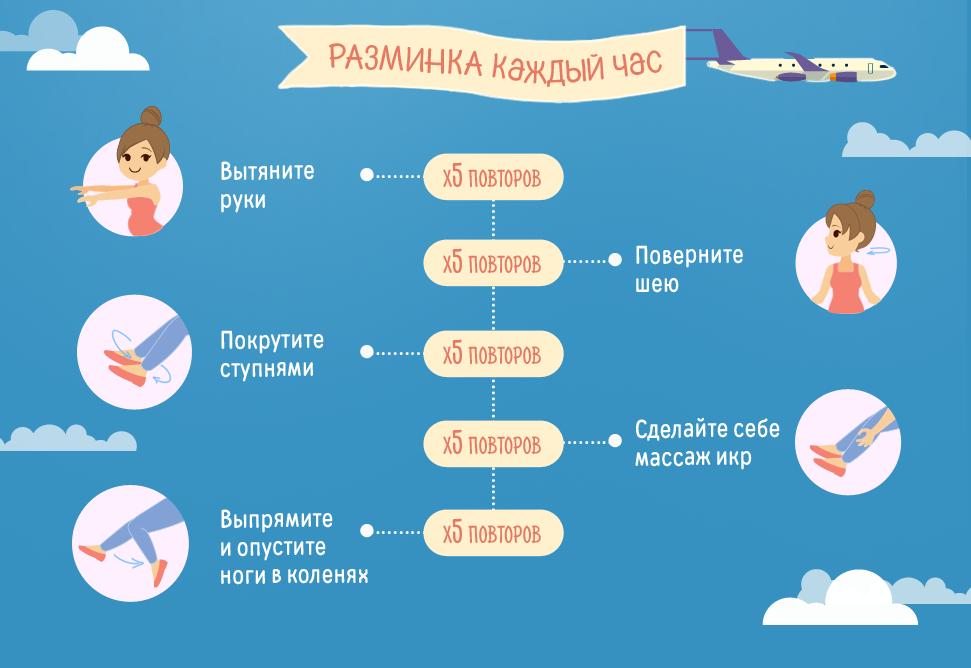 Разминка для беременной в самолете