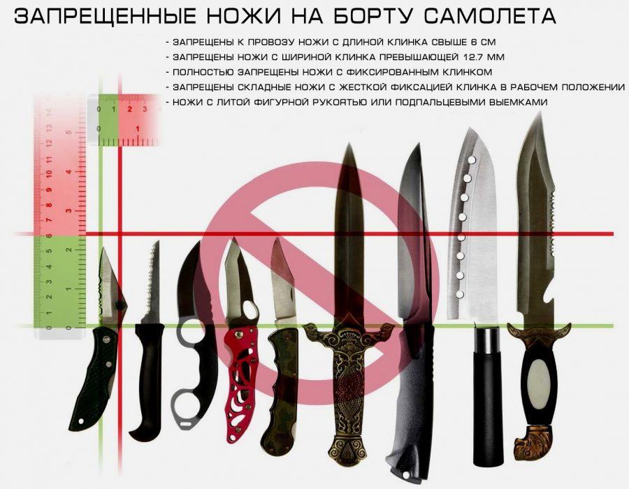 Запрещенные ножи на борту
