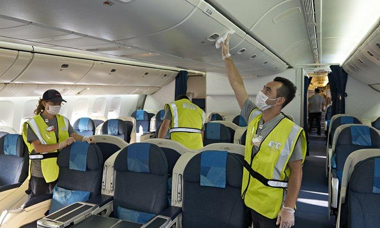 Уборка самолета