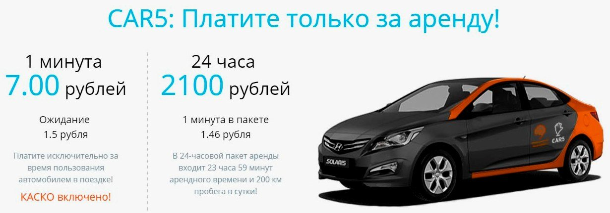 Каршеринг Car5 во Внуково