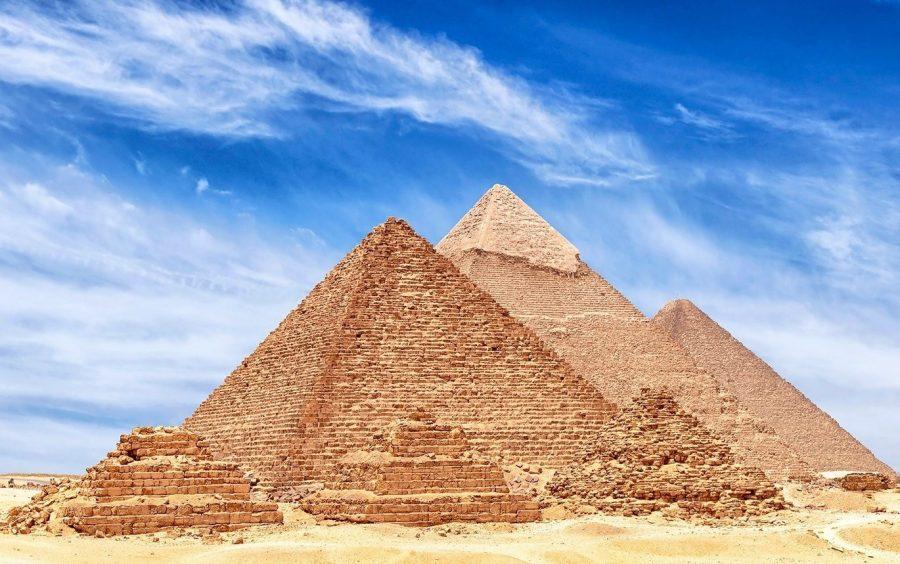 Достопримечательность пирамиды Гизы в Египте