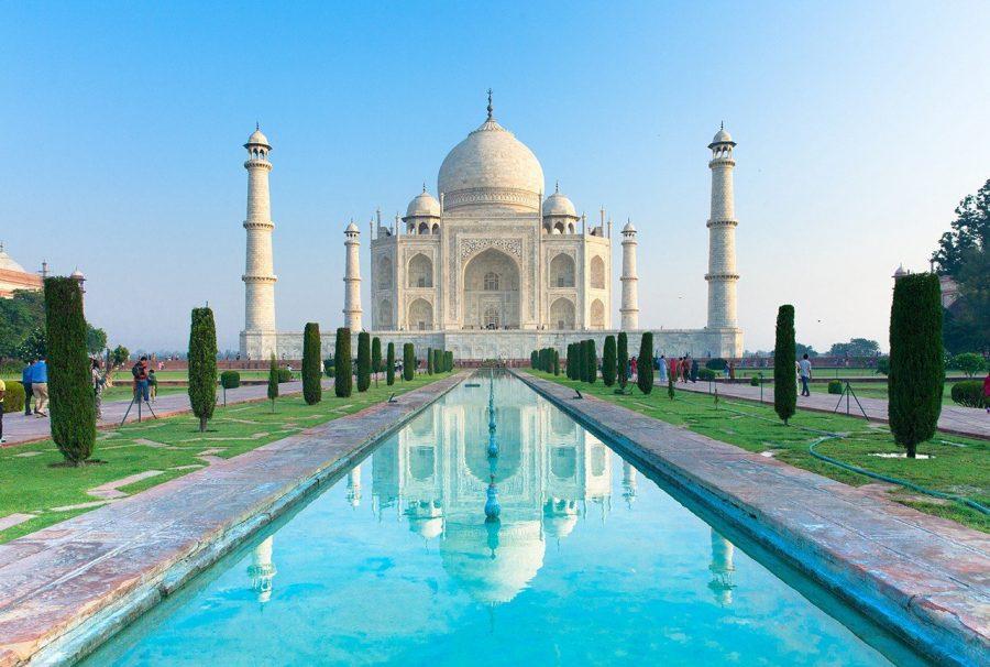 Достопримечательность Тадж-Махал в Индии