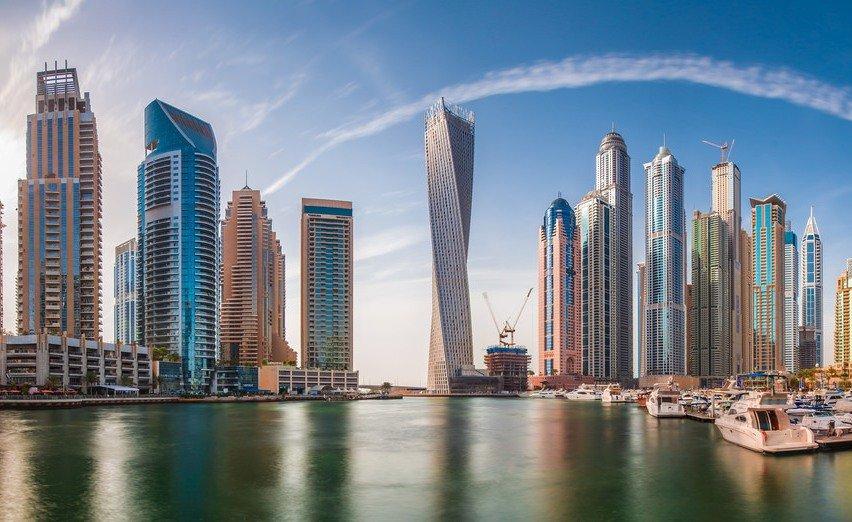 Небоскребы в городе Дубай