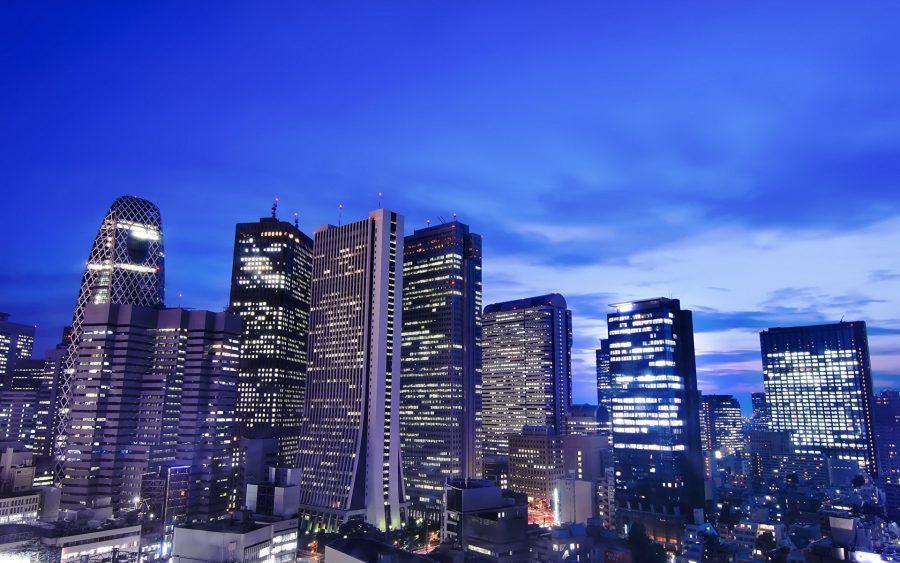 Небоскребы в городе Токио