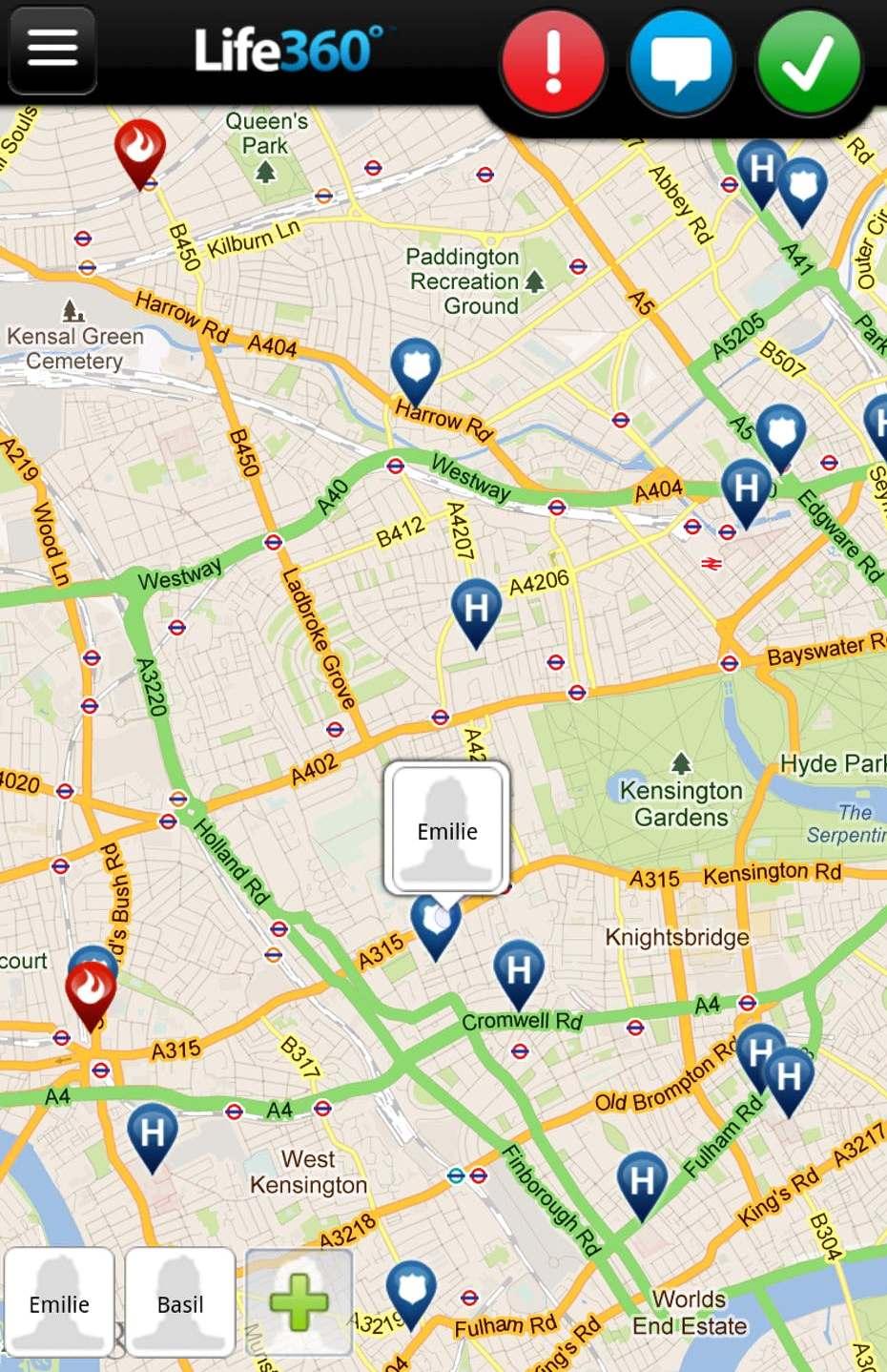Приложение Life360 Family Locator
