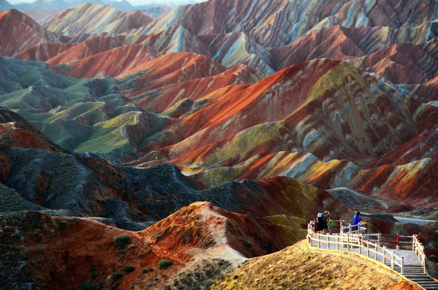 Цветные скалы Чжанье, Китай