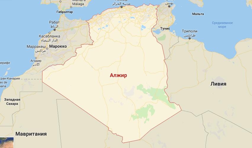 Большой Алжир на нарте мира