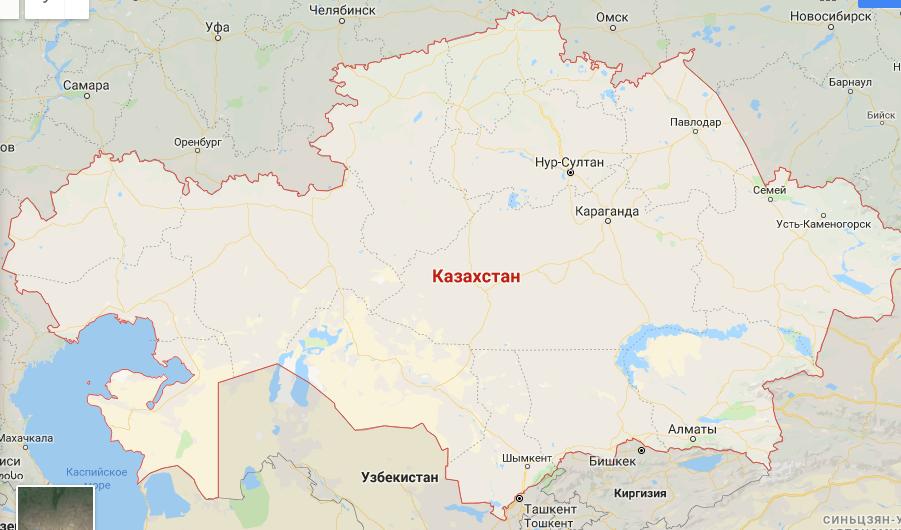 Большой Казахстан на карте мира