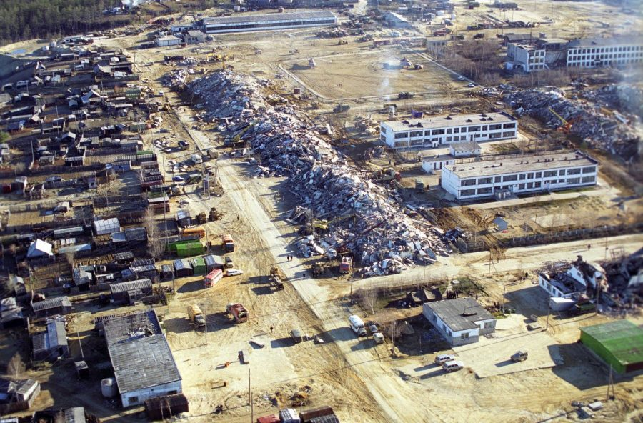 Заброшенный город Нефтегорск, Россия