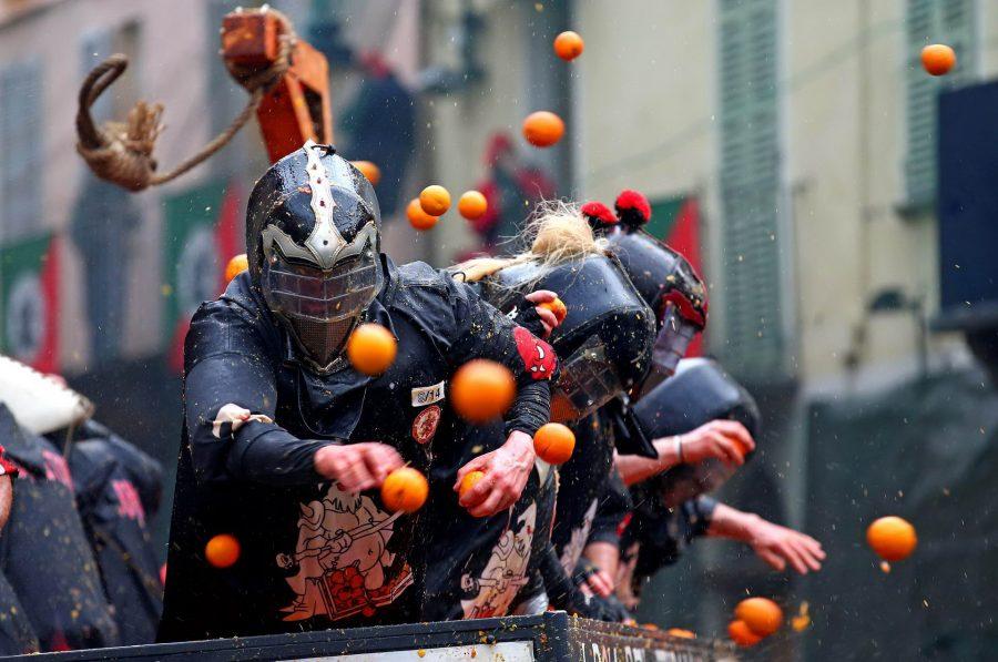 Участие в апельсиновых боях