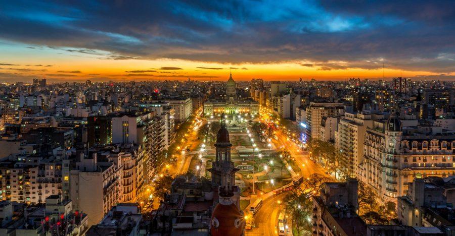 Город Буэнос-Айрес в Аргентине