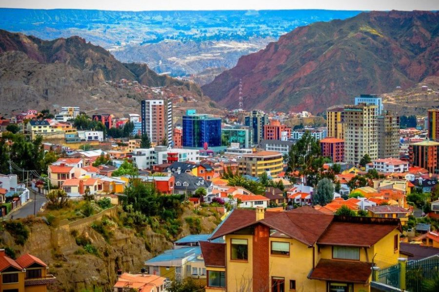 Город Ла-Пас в Боливии