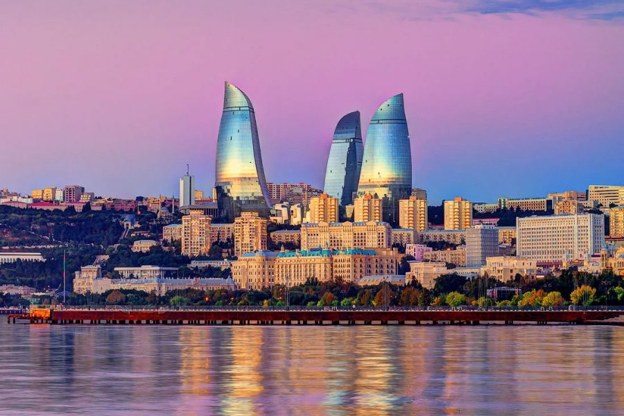 Город Баку в Азербайджане