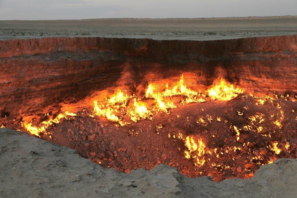 Место Derweze в Туркменистане