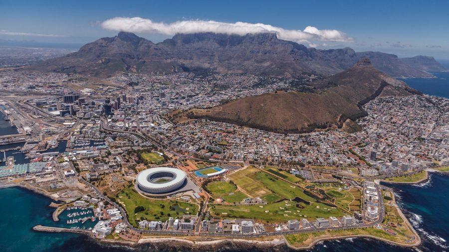 Город Кейптаун в Южной Африке