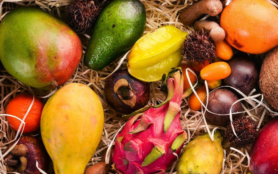 Экзотические фрукты и продукты