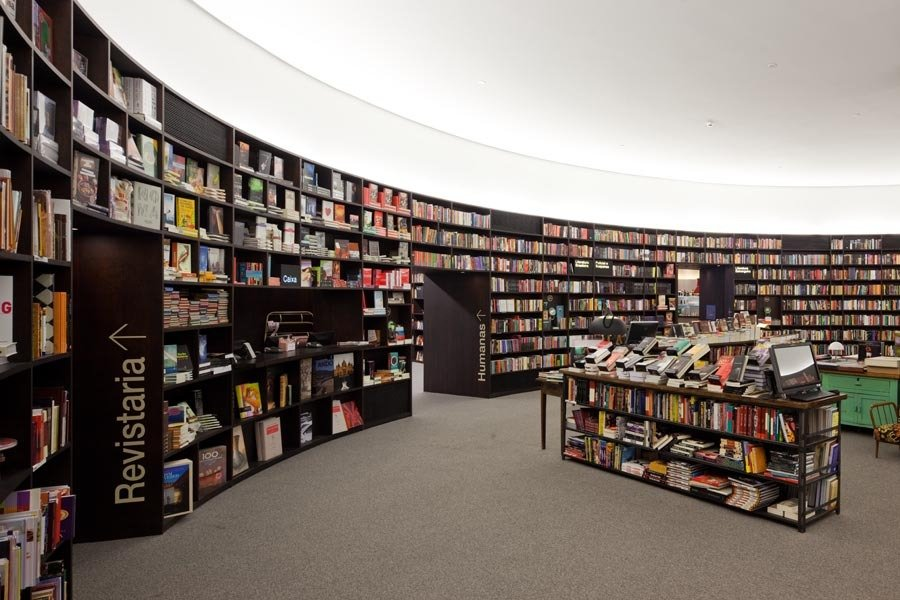 Магазин Гигантская библиотека в Сан-Пауло (Бразилия)