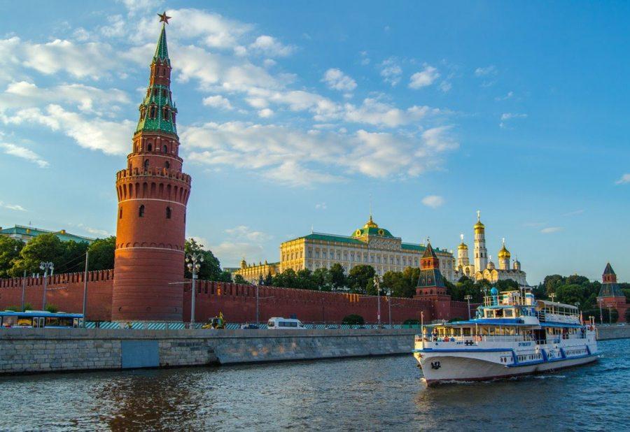 Прогулка на теплоходе в Москве