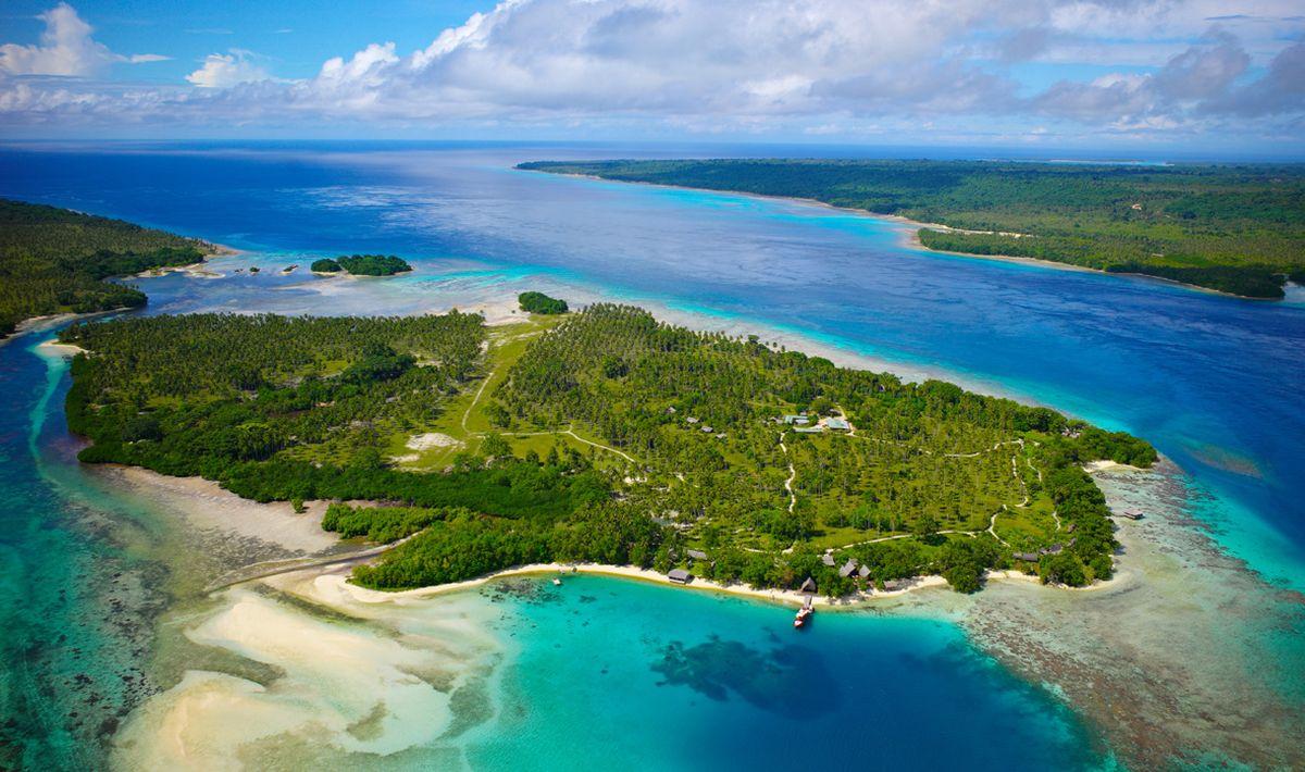 Остров Вануату в Тихом океане