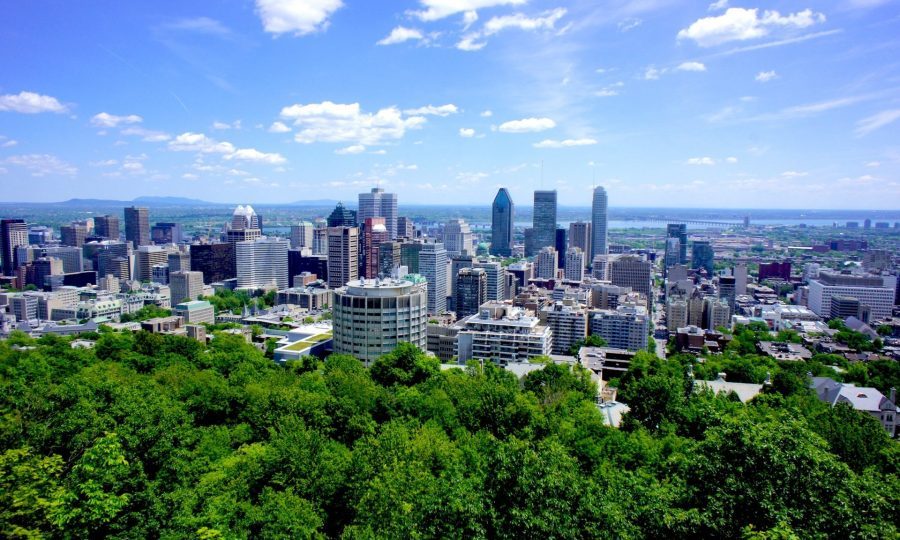 Город Монреаль в Канаде