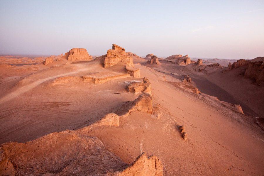 В пустыне Деште-Лут в Иране