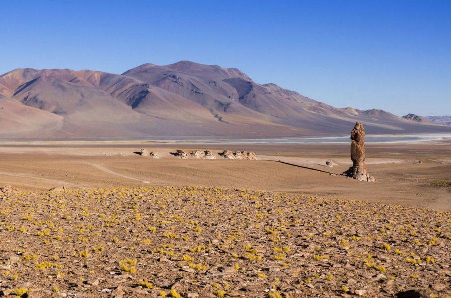 Засушливая пустыня Атакама в Чили