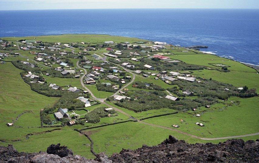 Остров Тристан-да-Кунья, принадлежащий Великобритании