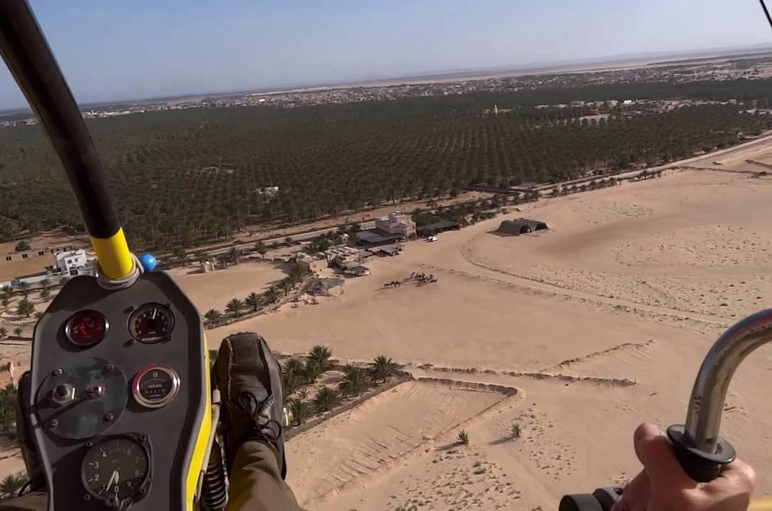Полет над пустыней Сахара
