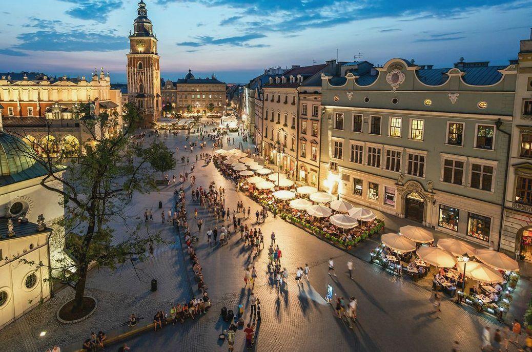 Краков интересный город в Польше