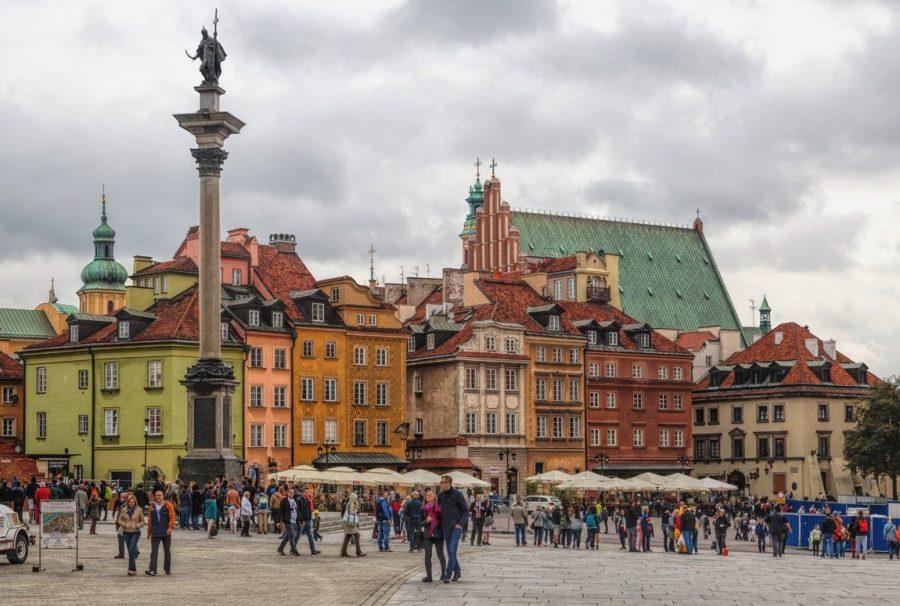 Старый город в Варшаве в Польше
