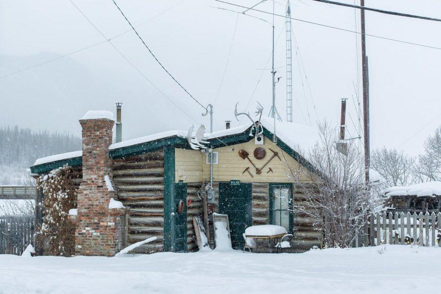 Деревня Снаг провинция Юкон в Канаде