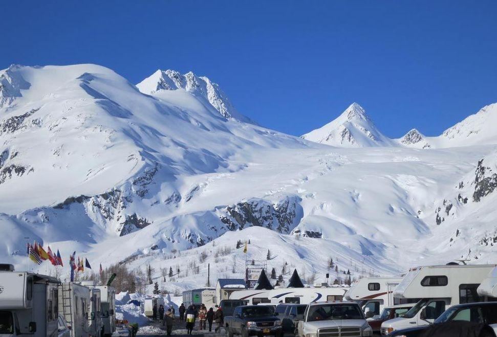 Поселение Проспект-Крик на Аляске в США