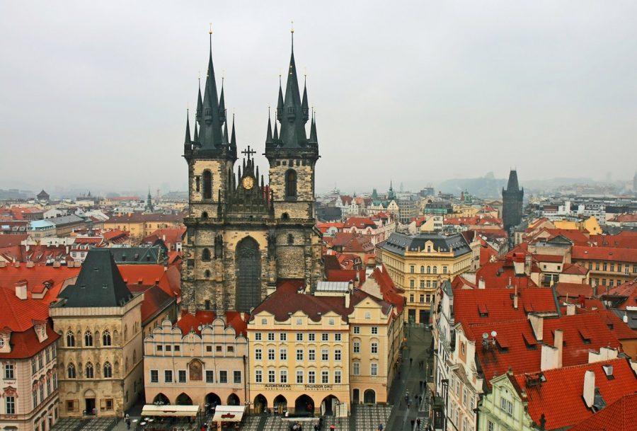 Прага в Чехии часто посещаема туристами