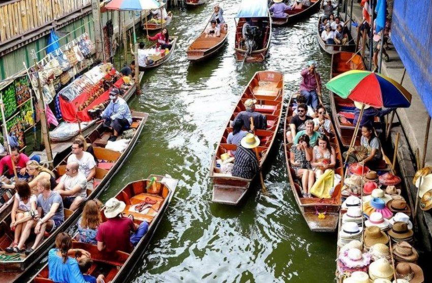 Дамноен Садуак рынок на воде